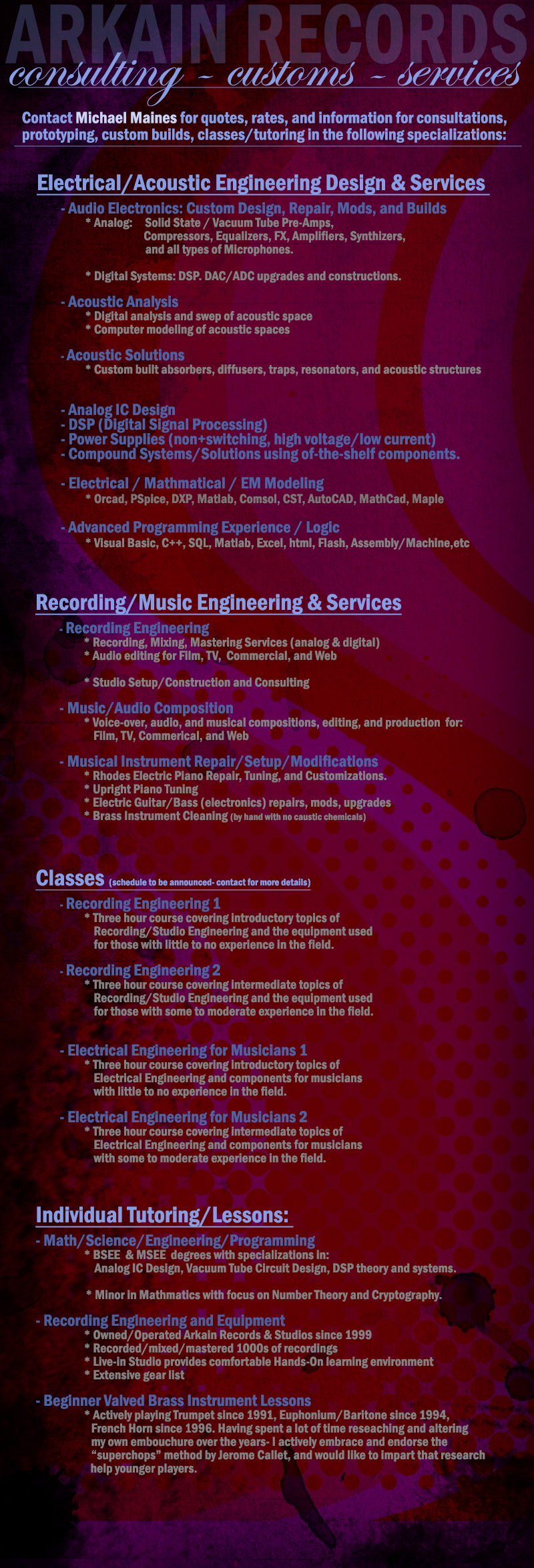 Consulting/Services